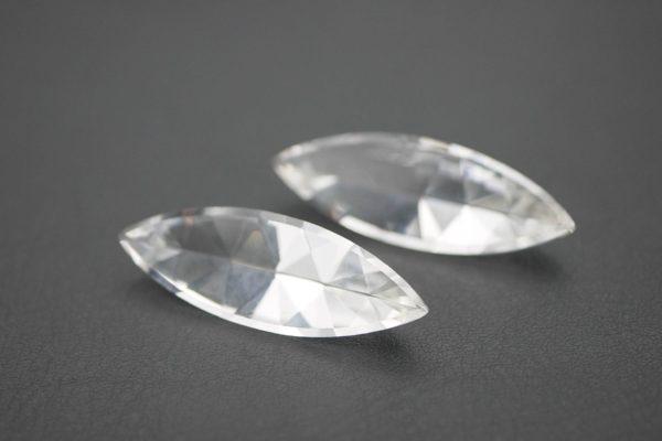 Bergkristall Navetten facettiert