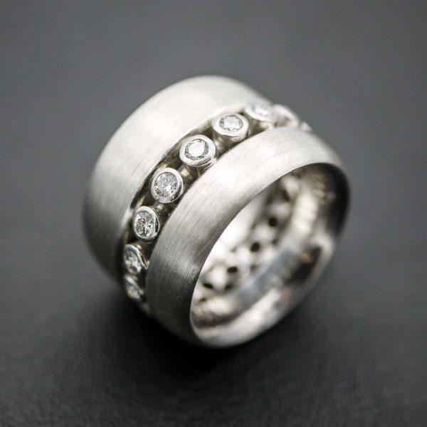 Ring in Silber 925 mit Brillanten