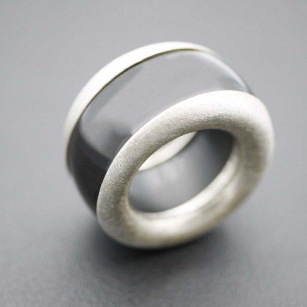 Ring in Onyx und Silber 925