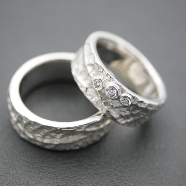 Trauringe in Silber 925 mit Brillanten