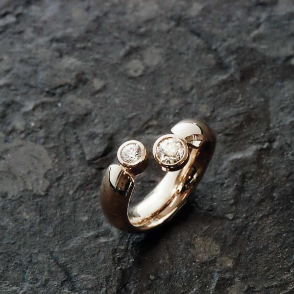 Ring in Gelbgold 750 mit Brillanten