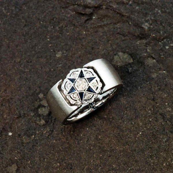 Ring in Weissgold 750 mit antikem Mittelteil- Umarbeitung